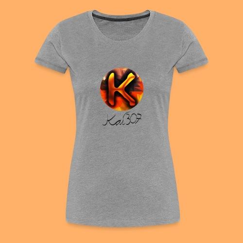 Kai_307 - Profilbild + Unterschrift Schwarz - Frauen Premium T-Shirt