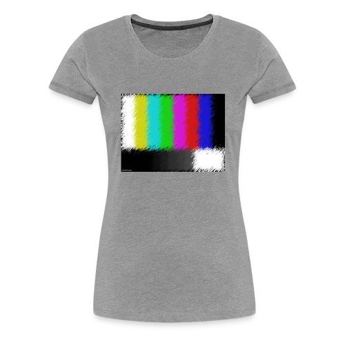Testbild bunte Streifen - Frauen Premium T-Shirt