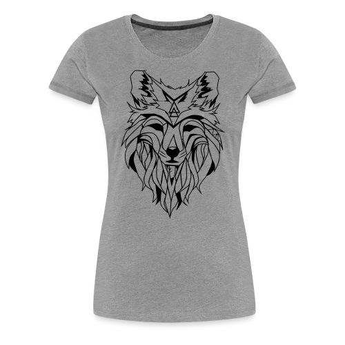 Hipster Wolf - Frauen Premium T-Shirt