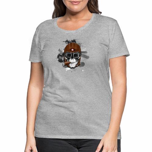 20-16 AMERICAN PILOT - SKULL - USA - LAHJATUOTTEET - Naisten premium t-paita