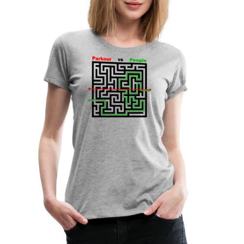Parkour Maze parkour vs people - Dame premium T-shirt