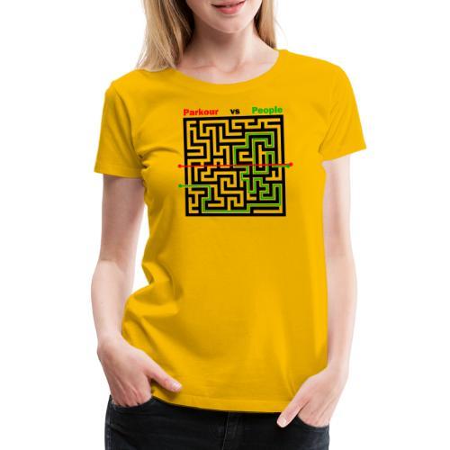 Parkour Maze parkour vs people - Dame premium T-shirt