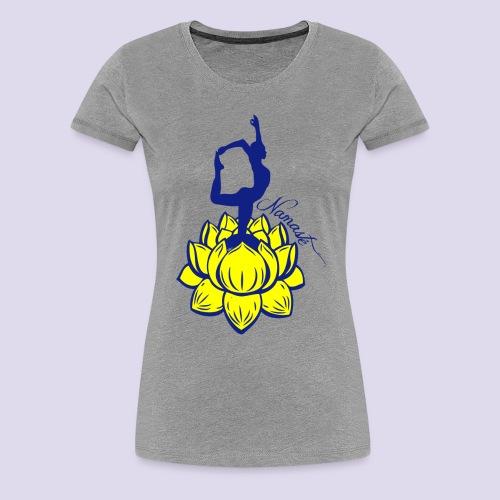 Namaste Lotus Yoga - Women's Premium T-Shirt
