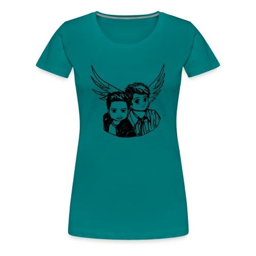 Destiel (Silhuet) - Dame premium T-shirt
