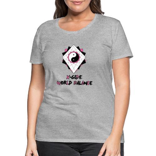 X-SIDE - World Balance - Series: Pink - Premium-T-shirt dam