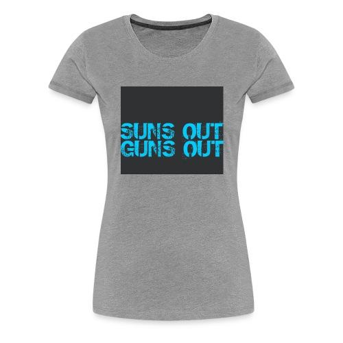 Felpa suns out guns out - Maglietta Premium da donna