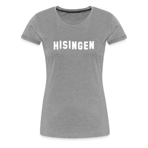 Hisingsskylten vit - Premium-T-shirt dam