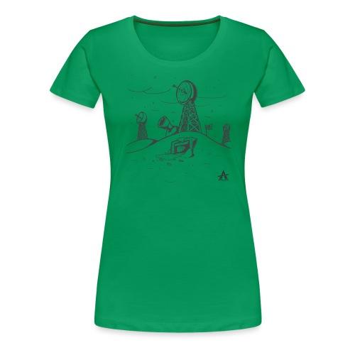 ligne de base arctique croquis - T-shirt Premium Femme