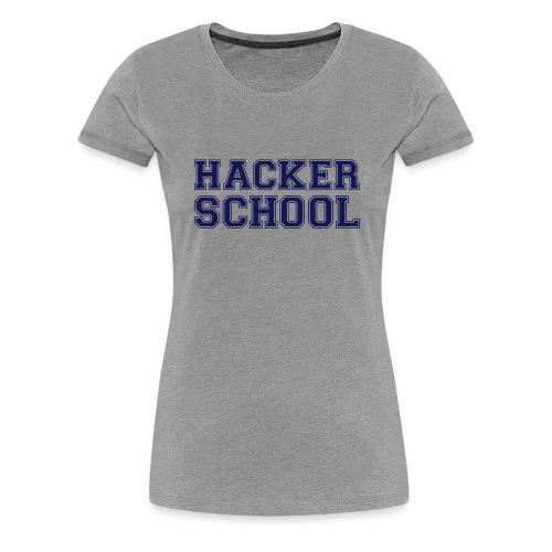 Hacker School ohne Pixel - Frauen Premium T-Shirt