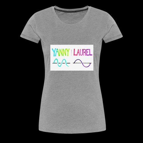 yanny laurel science - Women's Premium T-Shirt