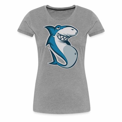 Fatsharkyes logo BIG - Premium-T-shirt dam