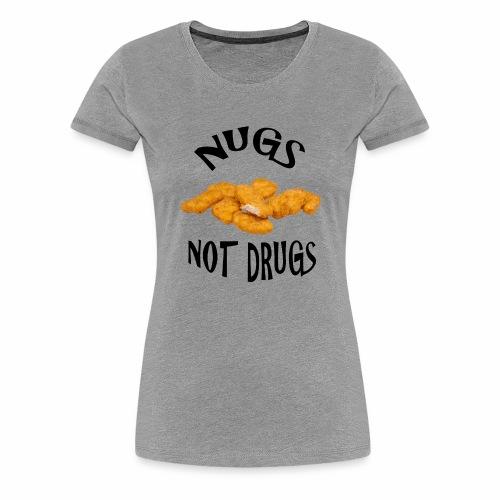 nugsnotdrugs vector - Women's Premium T-Shirt