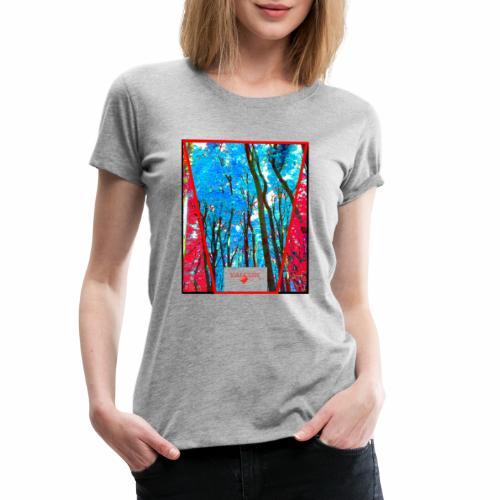 Natur Wald Forest Bäume - Frauen Premium T-Shirt