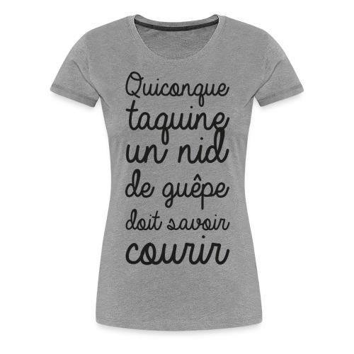 Humour noir et blanc Les guêpes - T-shirt Premium Femme