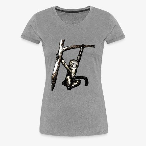 Swinging Monkey in Tree Wildlife T-Shirt - Women's Premium T-Shirt