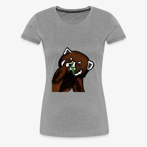 Cute red panda with Bamboo Wildlife T-Shirt - Women's Premium T-Shirt