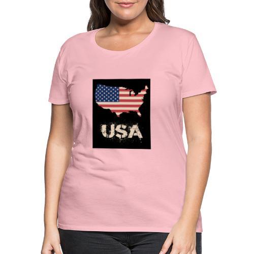 USA FLAG 4th of July With Flag - Premium-T-shirt dam