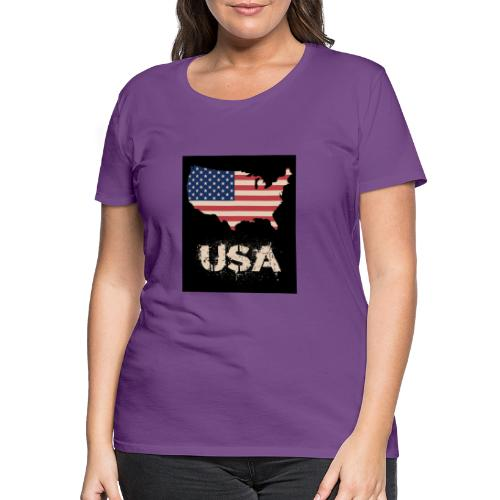 USA FLAG 4th of July With Flag - Premium-T-shirt dam