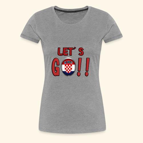Go Croatia - Maglietta Premium da donna