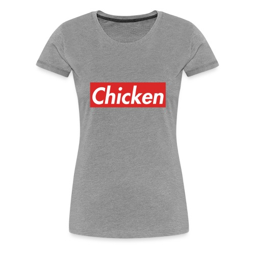 ChickenWhiteText - Women's Premium T-Shirt
