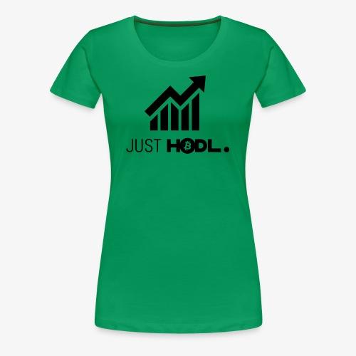 HODL-btc-just-black - Women's Premium T-Shirt