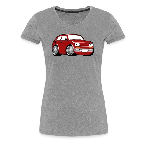 Red cartoon racing car toddler classic - Koszulka damska Premium