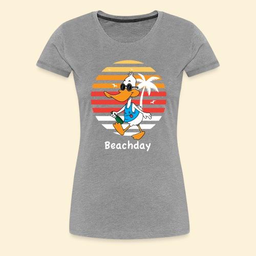 Beach Duck - Frauen Premium T-Shirt