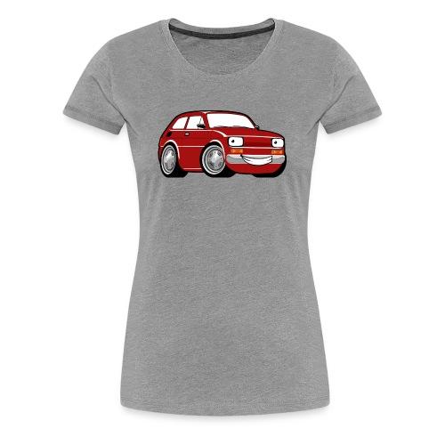 Red cartoon racing car toddler classic - Koszulka damska Premium