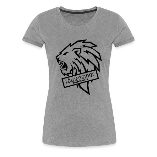 Löwenstadt Design 9 schwarz - Frauen Premium T-Shirt