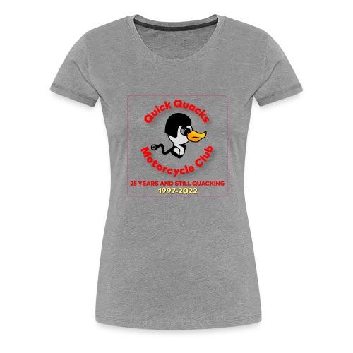 Quack logo 25 years no white square - Women's Premium T-Shirt