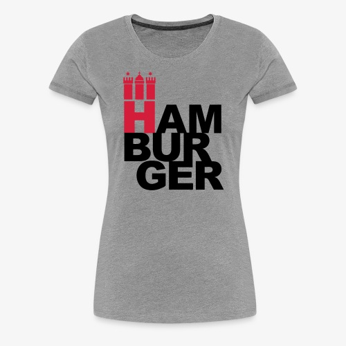 HAMBURGER 2c Hamburg Wappen - Frauen Premium T-Shirt