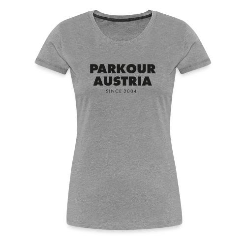 Parkour Austria (schwarzer Schriftzug) - Frauen Premium T-Shirt