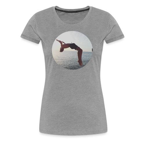 adam woods - Premium-T-shirt dam