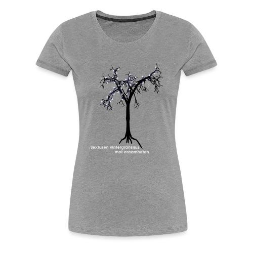 ensamheten - Premium-T-shirt dam