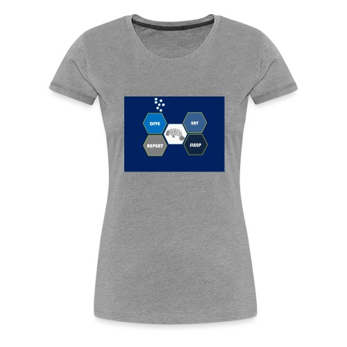 Dive_sleep_repeat_Hexagonal_v1-0_20161118 - Women's Premium T-Shirt