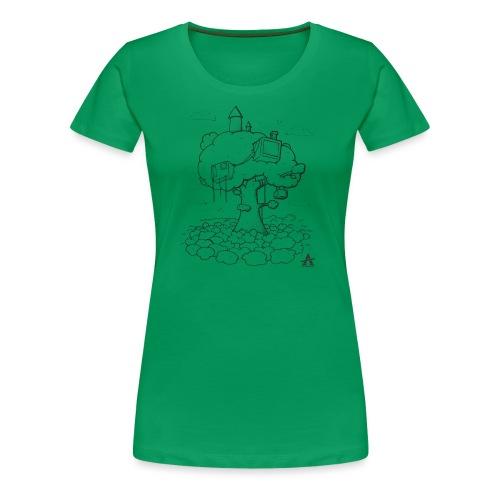 Cabane dans un arbre Sketch Line - T-shirt Premium Femme