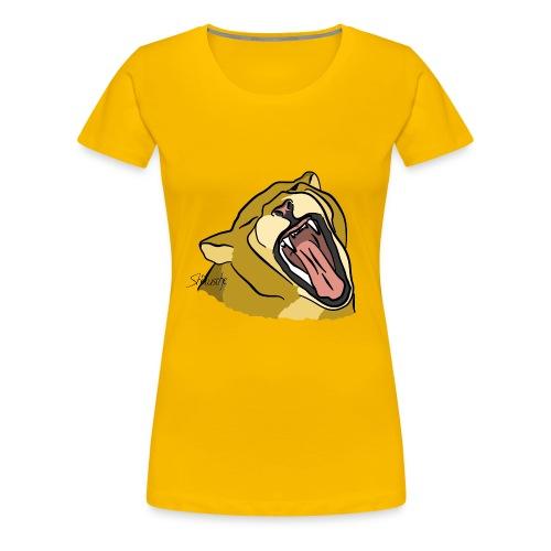 Gähnender / brüllender Löwe - Frauen Premium T-Shirt