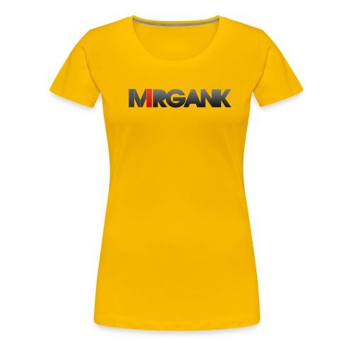 Mrgank Text - Women's Premium T-Shirt