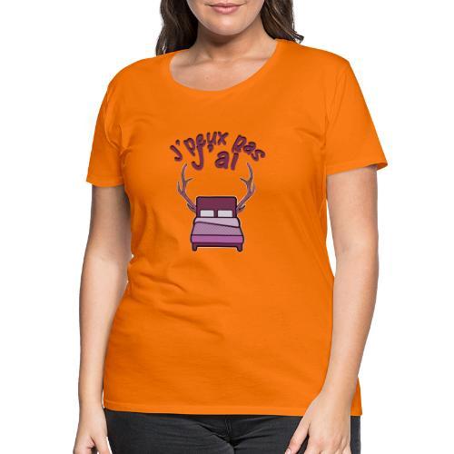 Je peux pas j'ai Lit Corne (Licorne) - T-shirt Premium Femme