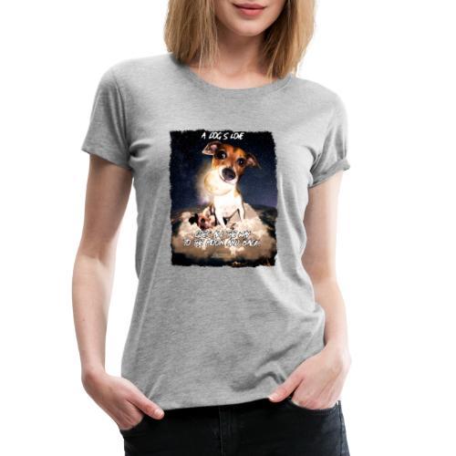 A dog's love - Vrouwen Premium T-shirt
