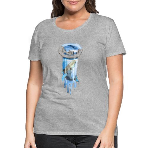 Wal im Abfluss (Whale in the Drain) - Frauen Premium T-Shirt