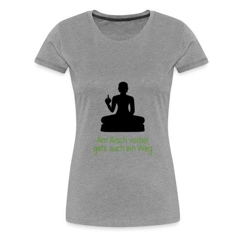Buddha Stinkefinger - Frauen Premium T-Shirt