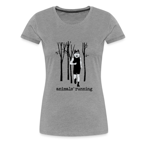 Loup running - T-shirt Premium Femme