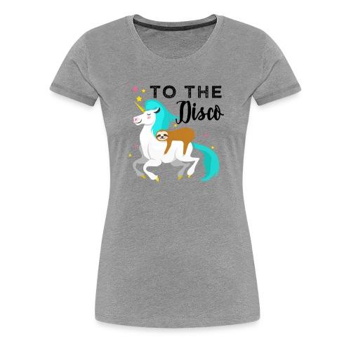 Funny Sloth Riding Unicorn - Frauen Premium T-Shirt
