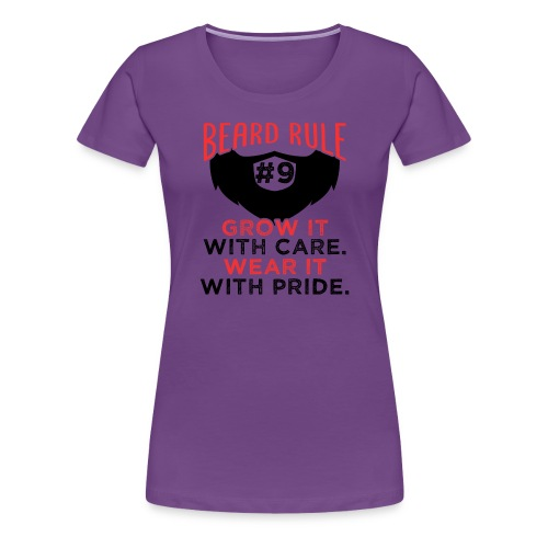 Beard Rule #9 - Frauen Premium T-Shirt