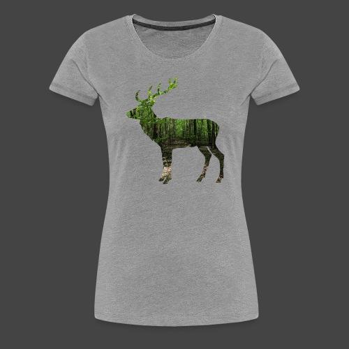 """""""Hirschwald""""-Jägershirt - Frauen Premium T-Shirt"""