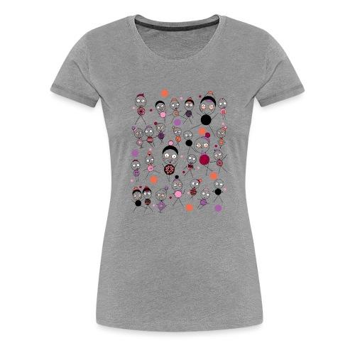 Bonhommes en Hiver - T-shirt Premium Femme