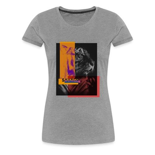 Tigre con deformación de colores - Camiseta premium mujer