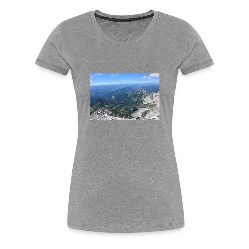 Der Dachstein aussicht - Frauen Premium T-Shirt