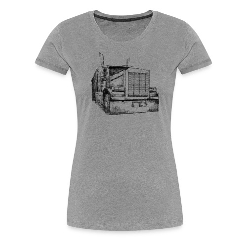 Typewriter Truck - Frauen Premium T-Shirt